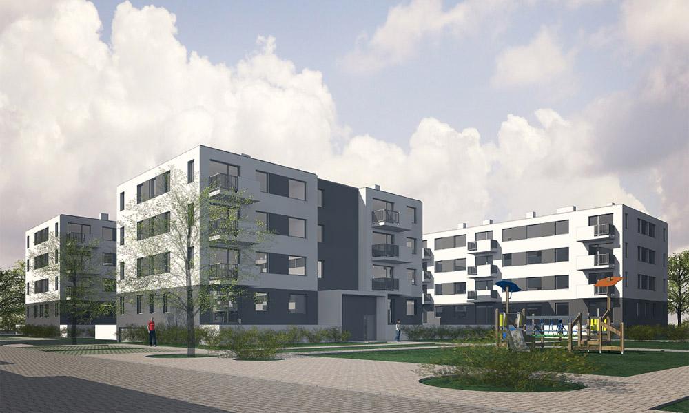 Projekt konkursowy osiedla mieszkalnego TBS w Poznaniu