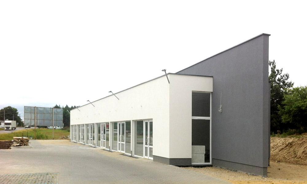 Projekt budynków handlowych pod Szczecinem