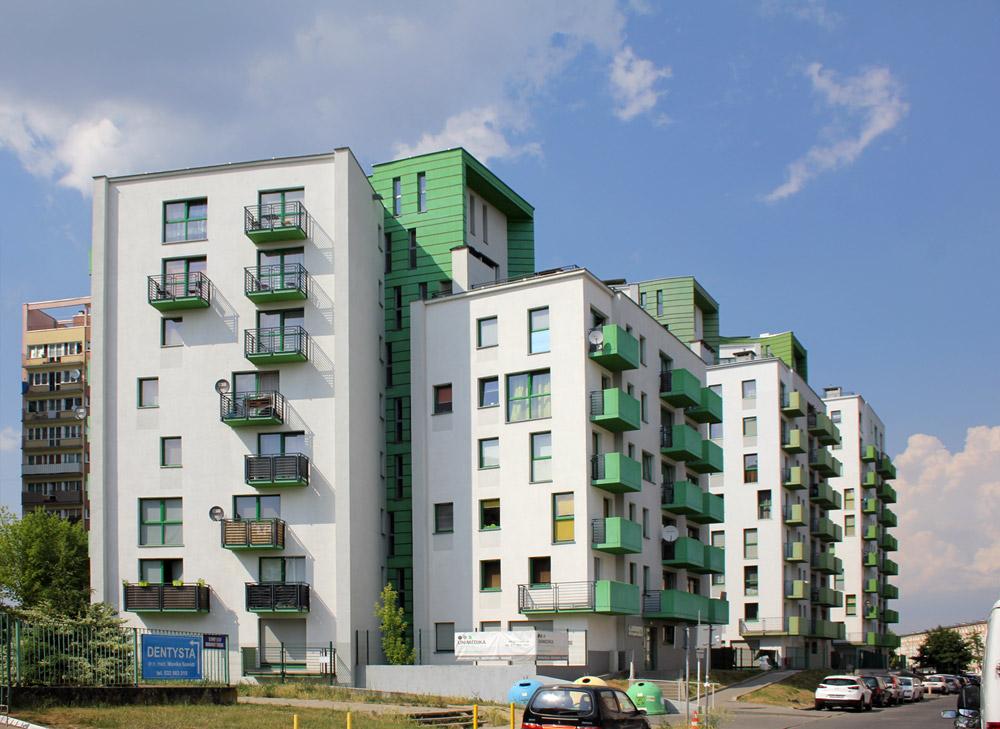 Projekt budynków mieszkalnych na osiedlu Pomorzany w Szczecinie