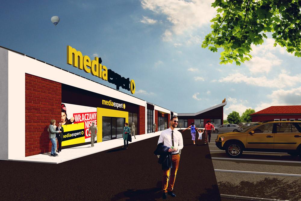 Projekt centrum handlowego w Chojnie