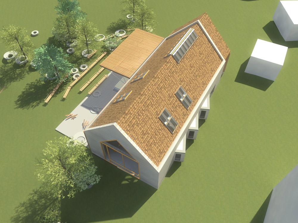 Projekt świetlicy wiejskiej, Pustkowo, Gmina Rewal
