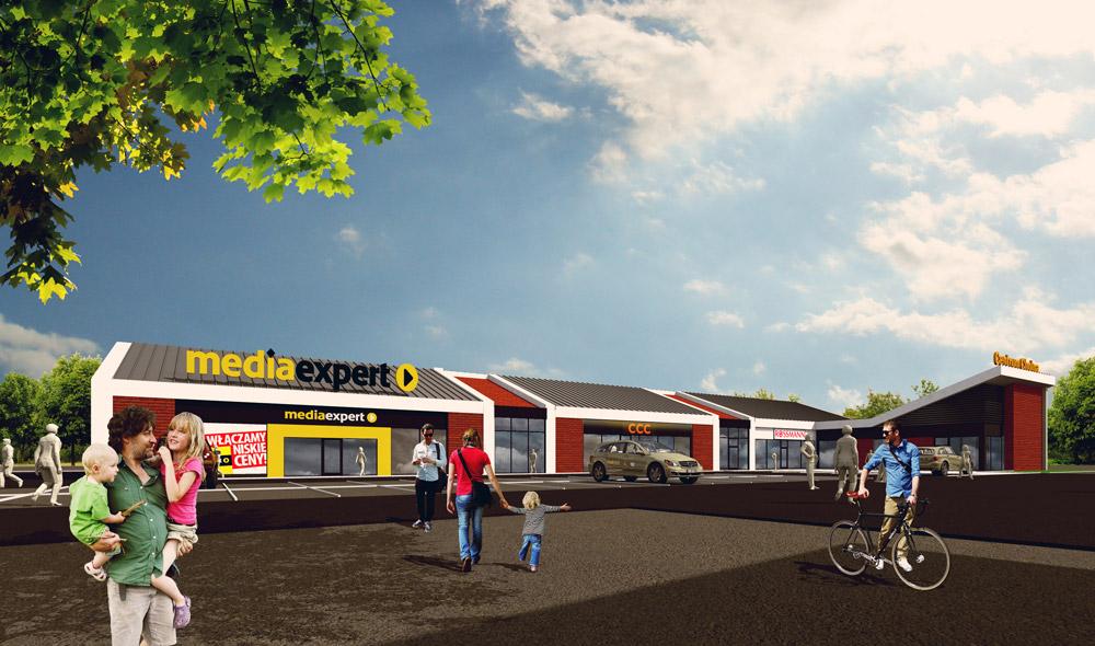 Projekt sklepu w Chojnie